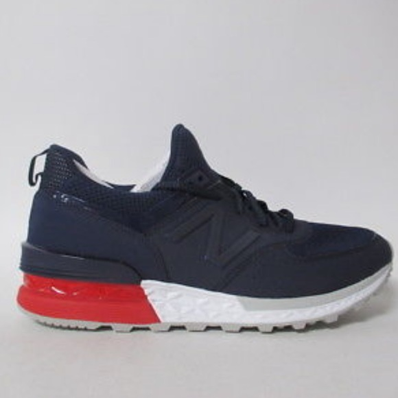 various colors 5fa14 15734 New Balance 574 Nave Blue, white, red